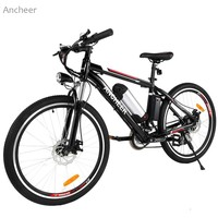 Ancheer 26 Inch Wheel Aluminum Alloy Frame Mountain Bike Cycling Bicycle Black US Plug