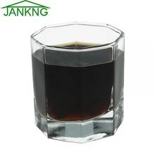 JANKNG 200 ml wódki strzał szklany kubek Whisky szklanka Whiskey szkło kryształowe staromodny kubek piwa kwiat kubki szklane odporny na wysoką temperaturę tanie tanio Zaopatrzony Ekologiczne Ce ue Lfgb WC280010 Kieliszek do wina ROUND Whisky Wine 200ml 250g 80 x 74 mm