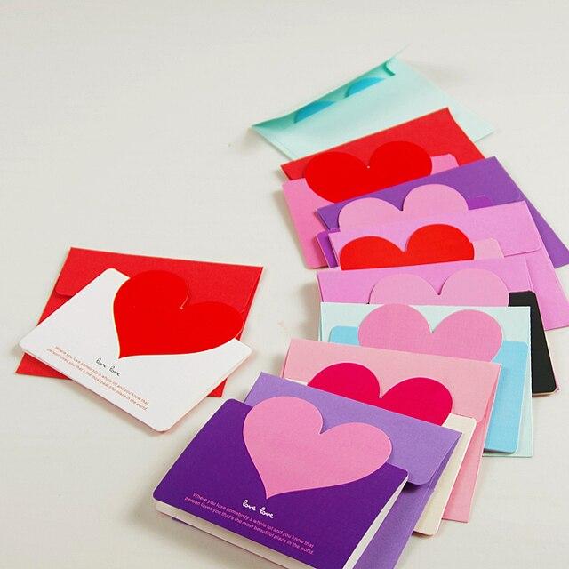 Korean wedding small heart shaped greeting card love card blessing korean wedding small heart shaped greeting card love card blessing small card fold greeting card m4hsunfo