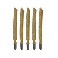4''/100mm Diamond Saw Blade Brazing Jigsaw Blades For Stone Marble Tiles Glass Cutting Power Tool Accessories 5pcs