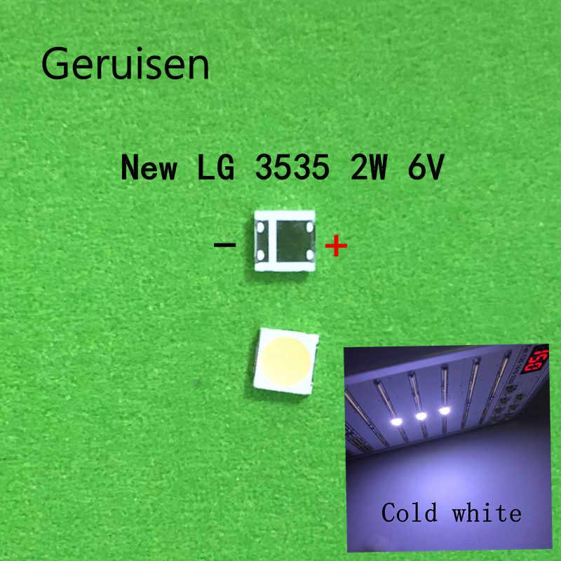 200 Uds. Para reparación de TV LCD, luces de tira de retroiluminación LG led TV con diodo emisor de luz 3535 SMD LED beads 6V LG 2W