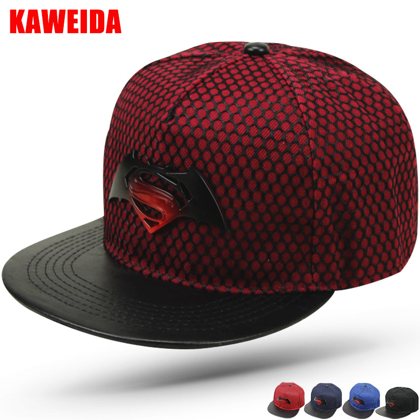 f24a889a639a 2018 Metal Logo Superman Batman Hip Hop Dance Snapback Hats Bone K-pop Casquette  Homme Baseball Cap Casual Gorras chapeu