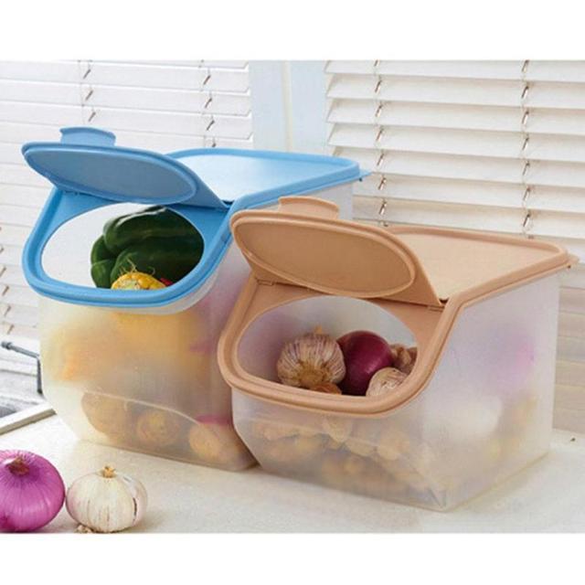 livraison gratuite 0796c 8ca98 € 17.75 |Grande Boîte De Stockage des Aliments En Plastique Scellé Bac  Boîte Réfrigérateur Préservation Boîtes de Fruits Légumes Container Sorte  De ...