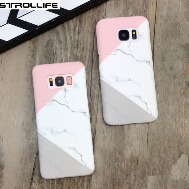 official photos 8219b af8a6 US $3.89 |STROLLIFE Luxury Geometric Splice Marble Phone Cases For Samsung  Galaxy S8 Plus S6 S7 edge Ultra thin Hard PC Back Cover Coque -in Fitted ...