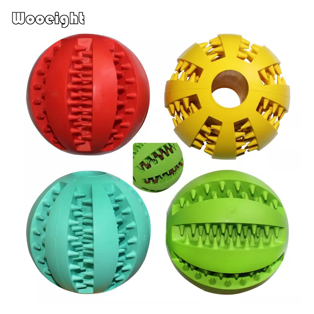 Dog Toys Independent Interactive Tooth Ceaning Dog Pet Toy Balls Puppy Chew Toys Rugby 1pc New Pet Products Cat Natural Rubber 7colors Odontoprisis