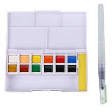 Набор однотонных акварельных красок цветные карандаши для рисования