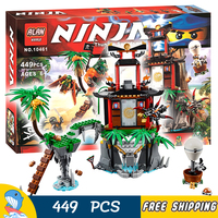 449pcs Ninja Tiger Widow Island Sensei Wu's Hot Air Balloon Pirate Flyer 10461 Model Building Blocks Toys Compatible With Lego