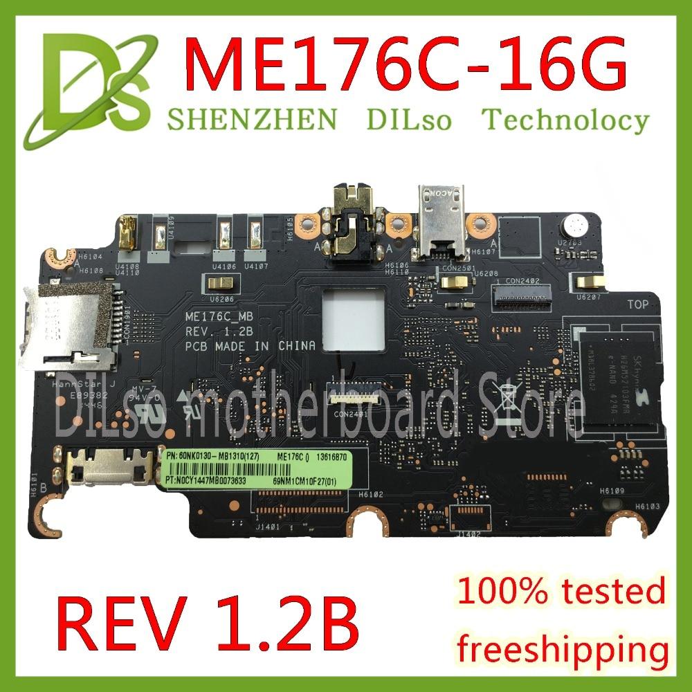 KEFU ME176C For ASUS Memo Pad 7 ME176 ME176C ME176CX motherboard REV 1.2B 16GB memory original board 100% Test work цена
