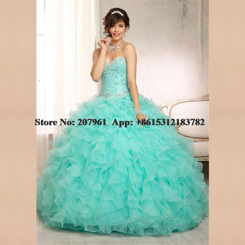 Popular Turquoise Quinceanera Dresses-Buy Cheap Turquoise ...