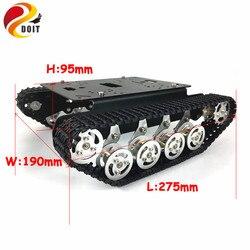 Doit Metal Robot Tank Car Chassis Rastreado Veículo Rastreador Via Plataforma Lagarta Choque Absorvedor de Robótica Diy Rc Toy Ensino