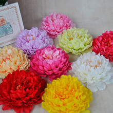10pcs Artificial Peony Flower Heads Diy Wedding Wreath Home Hotel Background Wall Decoration Fake Multicolor