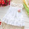 Новый 2016 лето шифона платья принцесс мода девушки детское платье милый воланами жилет для новорожденного одежда