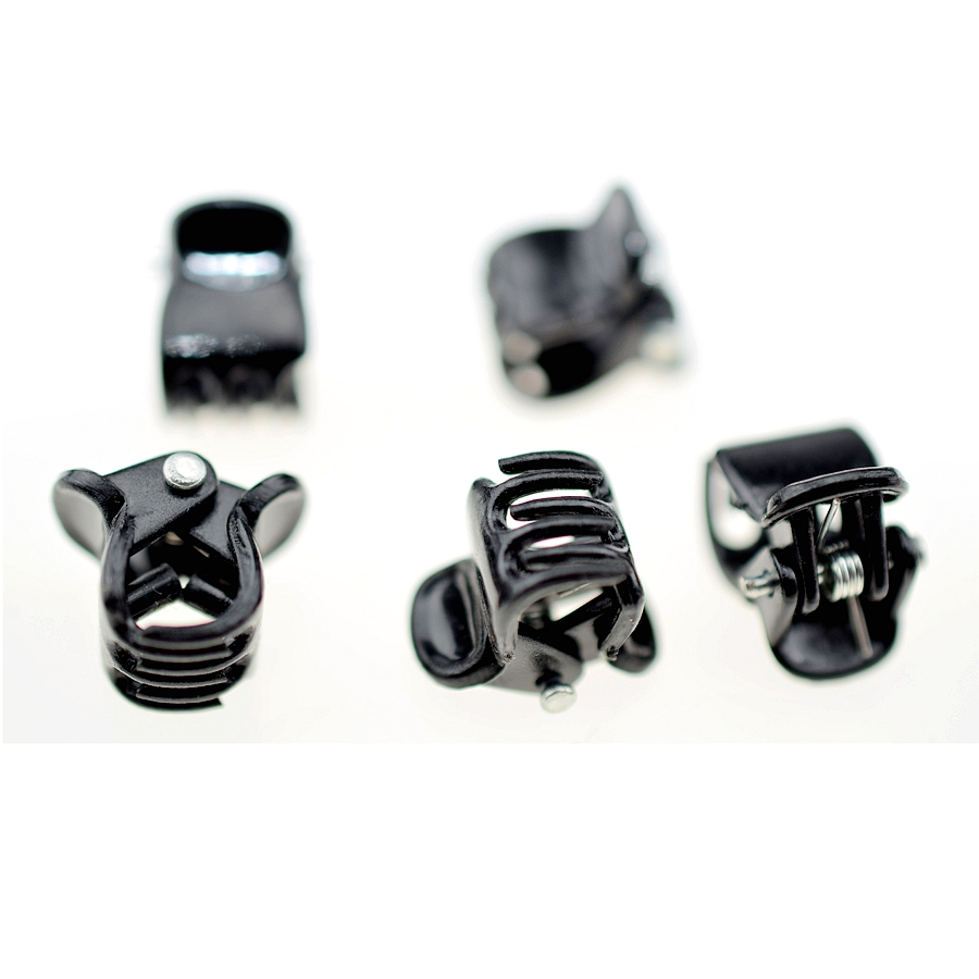 New 100pcs/set Black&brown Transparet 10mm Plastic Mini Hairpin Hair Claws Clip Hair Accessories For Women Girl Hair Jewelry