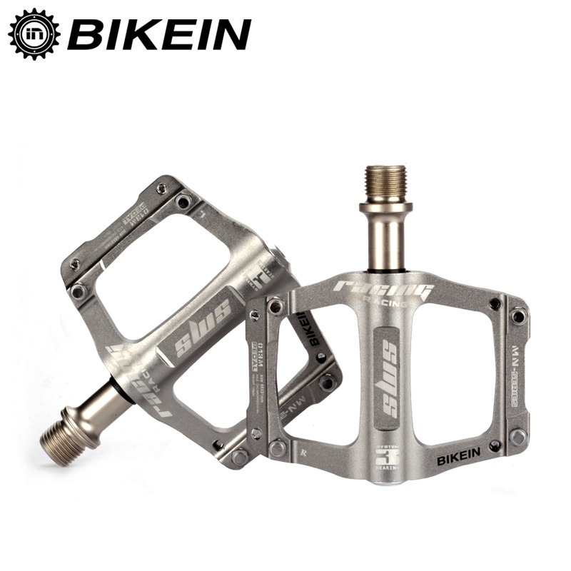 BIKEIN Ultralight CNC Aluminum Pedal Cycling MTB Bicycle 9/16 Inch Flat Pedals 3 Sealed Bearing 5 Colors Mountain Bike Parts bicycle pedal aluminum alloy mountain bike pedals road cycling sealed 3 bearing pedals bmx ultralight bike pedal bicycle parts