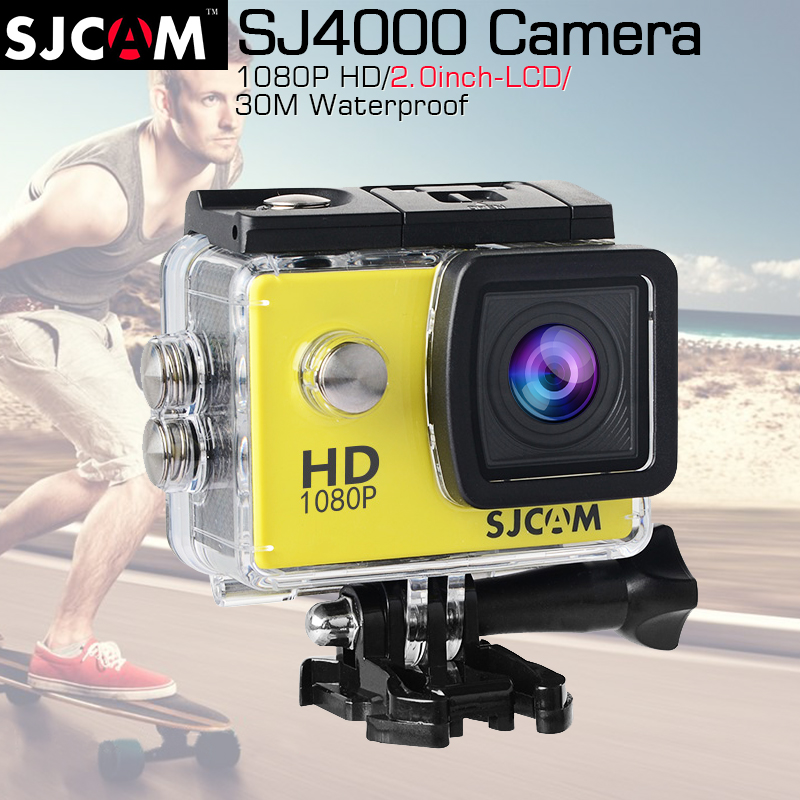 Original SJCAM SJ4000 2.0 Action Camera Diving 30M Waterproof Camera 1080P Full HD 170Degree Sport Camera SJ 4000 SJCAM Original original sjcam sj4000 wifi 2 0 lcd action camera full hd 1080p waterproof sport camera diving 30m waterproof beter gopro camera