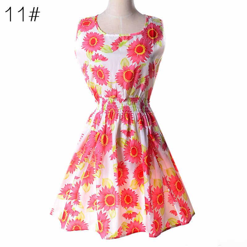 97b0c140ea81 ... 2019 Women Beach Dress Sexy Floral chiffon short Dress vestidos de  fiesta Boho Style Summer Dress