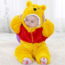 Yellow bear animal baby clothes new photograph jumpsuit wear