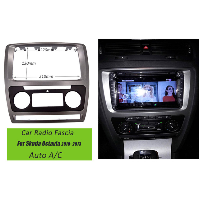 Car-covers Car Refitting DVD frame,DVD panel,Dash Kit,DVD Fascia,Audio frame For Skoda Octavia(2010~2013) Auto A/C