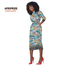 2017 élégant ceinture africaine robe pour femmes robe africaine femme style dashiki traditionnel vêtements bazin riche plus taille A722505