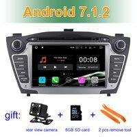 2 GB RAM Android 7.1 Car DVD Player for SHyundai iX35 Tucson 2011 2012 2013 with Radio WiFi Bluetooth GPS