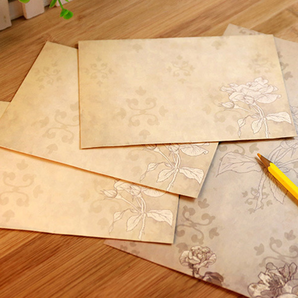 40 Sheet Vintage Stationery Sets with Envelopes for Writing Letters
