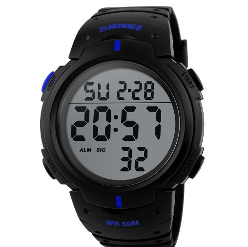 ФОТО Skmei Luxury Brand Mens Sports Watches Dive 50m Digital LED Military Watch Men Fashion Casual Electronics Wristwatches Hot Clock