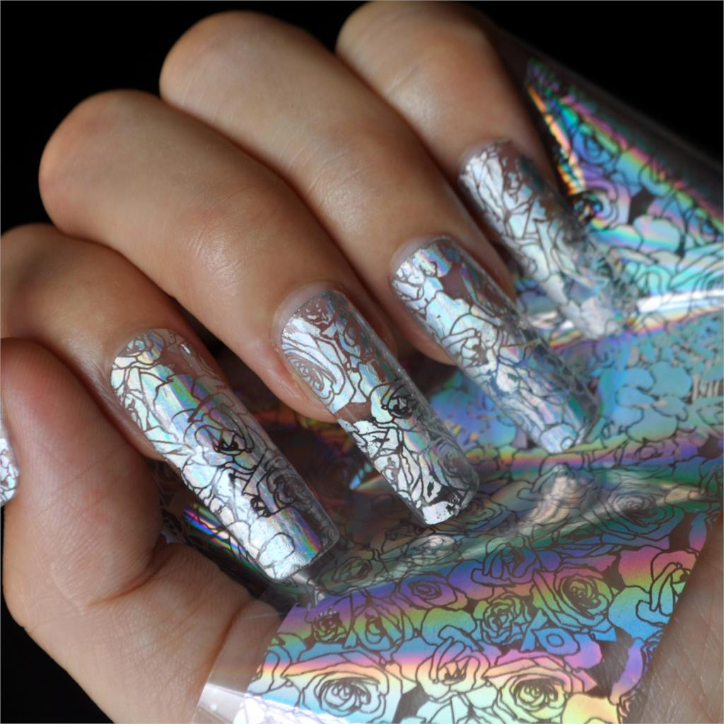 Red Shade Nail Art Decoration Foil High Light Rainbow Diy Nail
