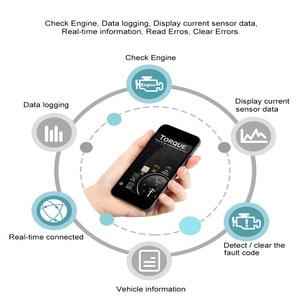 Image 2 - Mini ELM327 Bluetooth OBD2 v1.5 ELM 327 with PIC18F25K80 Chip OBD2 Adapter Elm 327 OBDII Auto Diagnostic Tool OBD2 Scanner