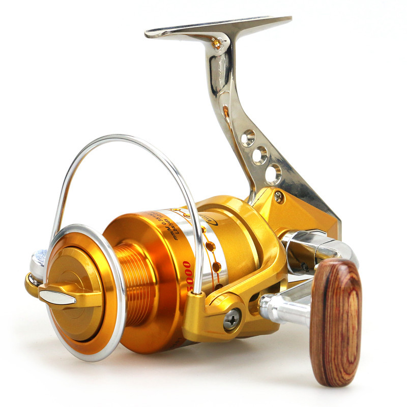 Full Metal Wheel seat BE1000-7000 Fishing vessel Aluminum Alloy Metal wire cup 12 + 1BB Sea rod Road sub-round