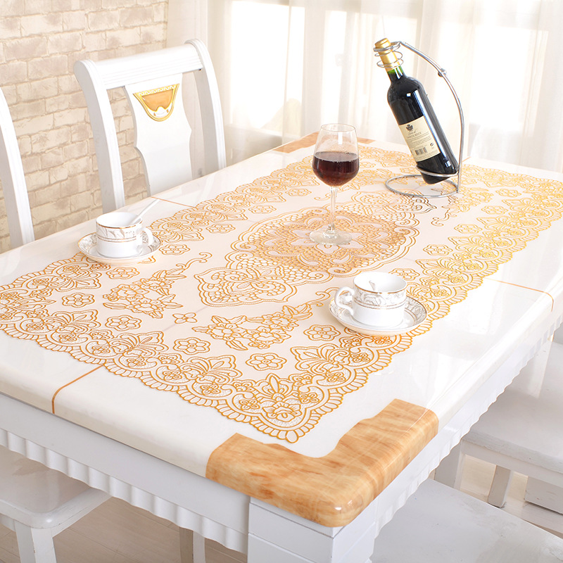 Modern Printed Tablecloth PVC Table Cloth Waterproof Anti-scalding Oval Tablecloth Wedding Party Tablecloths Home Decoration
