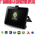 "7 "" capacitiva del carro del coche vehicel android gps navigator de la tableta PC WIFI ddr3 512 M 1.5 GHZ 8 GB envío más nuevo gps global mapa"