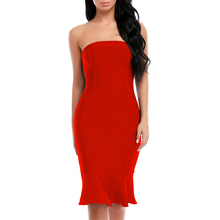 INDRESSME Woman Dress 2017 New Bandage Sexy Party Strapless Dress