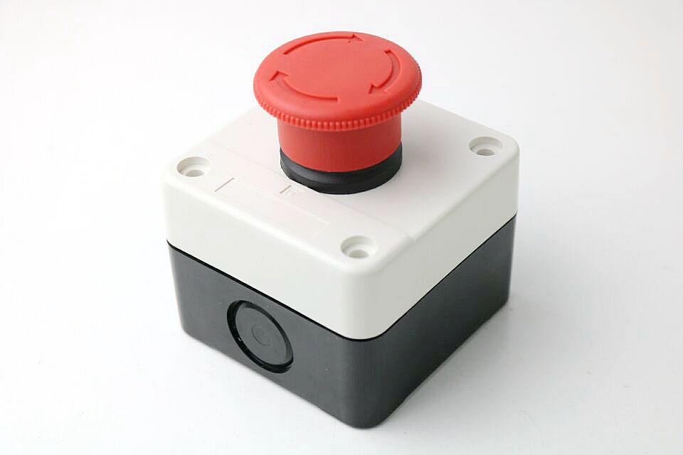 22MM emergency stop push button switch NO+NC scram Waterproof control box 19mm metal waterproof aluminum push button switch mushroom emergency stop button press button 19mgjt stop l s kb