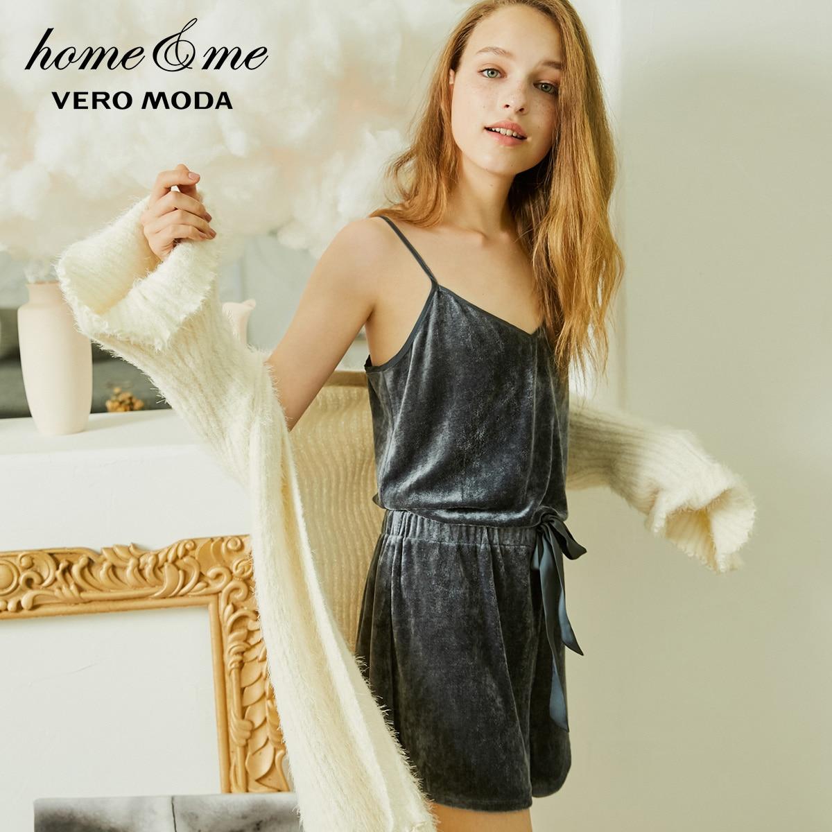Vero Moda Women's New Velvet Jumpsuit Shorts | 318478501