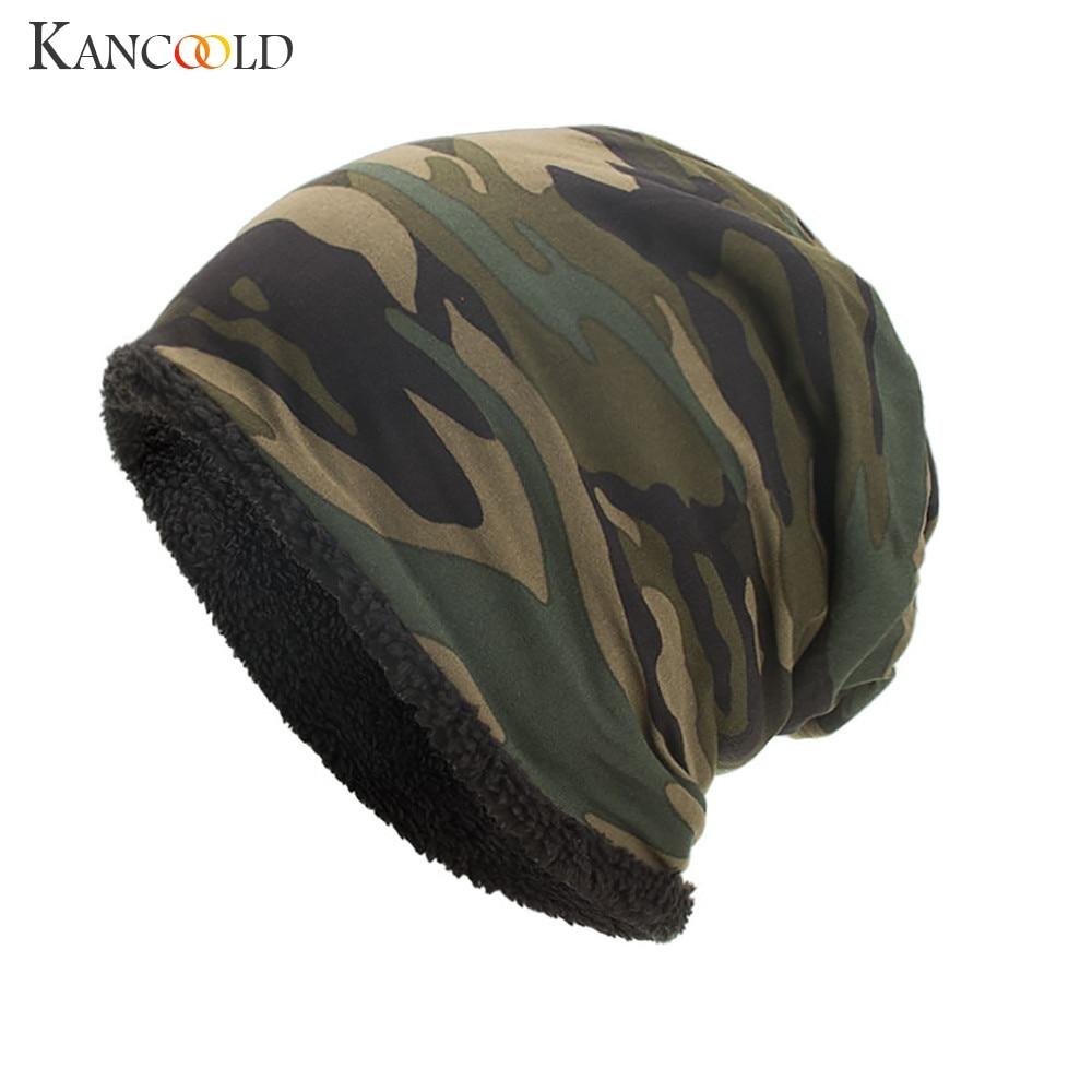 KANCOOLD Hat Women Men Warm Baggy Camouflage Crochet Caps Hat Winter Wool Ski   Beanie   Skull fashion hat Women 2018NOV16