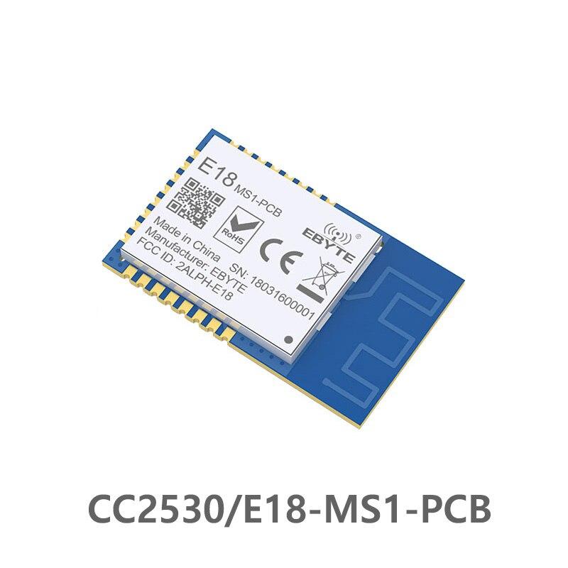 CC2530 2,4 GHz SPI ZigBee RF módulo inalámbrico 4dBm E18-MS1-PCB PCB antena datos 2,4 ghz transmisor inalámbrico módulo receptor