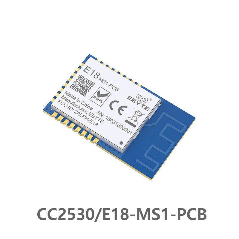 CC2530 2.4GHz SPI ZigBee RF Wireless Module 4dBm E18-MS1-PCB PCB Antenna Data 2.4ghz Wireless Transmitter Receiver Module