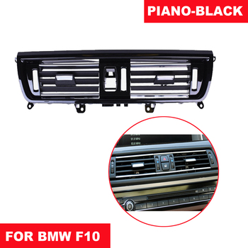 Left Hand DriveLHD Piano-Black Front Right Wind Air Conditioning Vent Grill Outlet Panel Chrome Plate For BMW 5 Series F10 F18 image