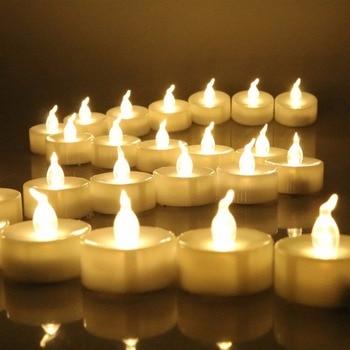 Paquete de 6 o 12 luces de té sin llama con temporizador, velas Led postizas eléctricas con temporizador, velas que funcionan con batería