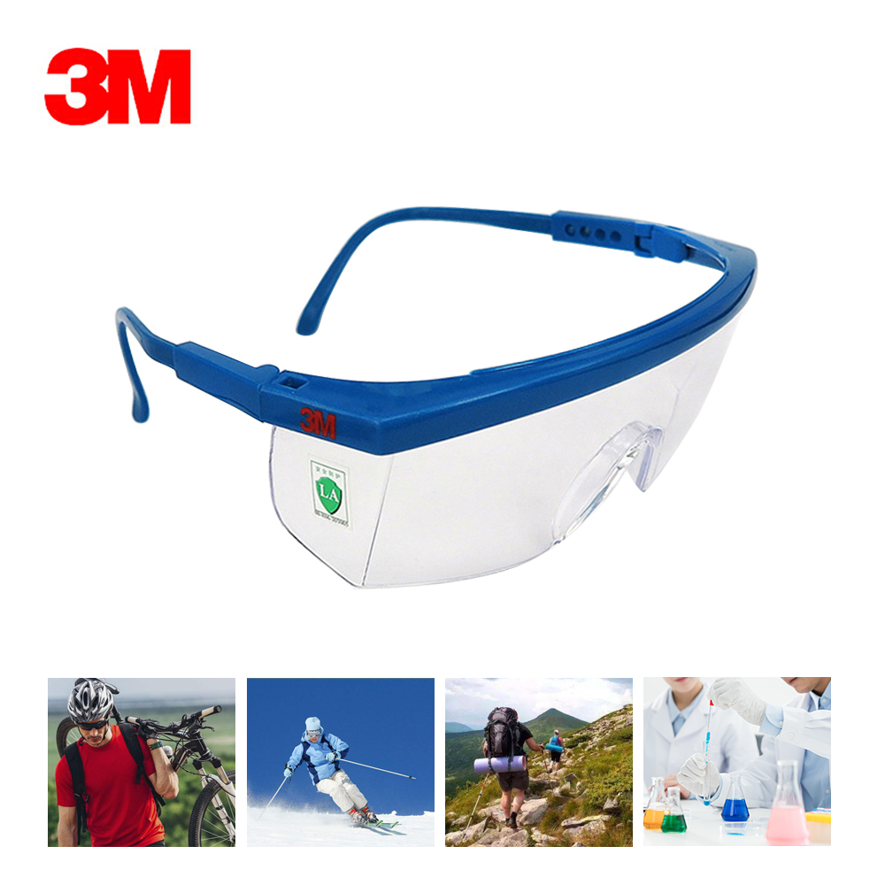3M 1711AF Safety Glasses Anti-fog Dust Impact Resistant Goggles UV Protection Transparent Glasses Outdoor Sports Claasic(China)