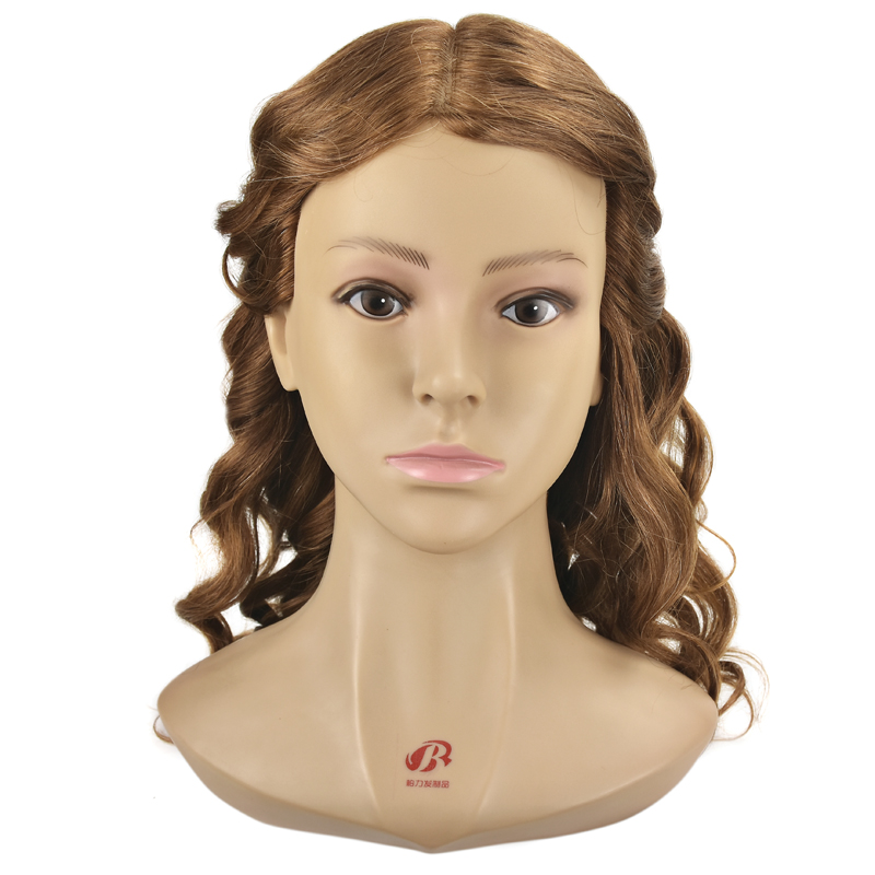 Professional HairStyling Head Manikin Head With Human Hair Hairdressing Mannequins 100 Real Hair Mannequin Head Hairdresser Head