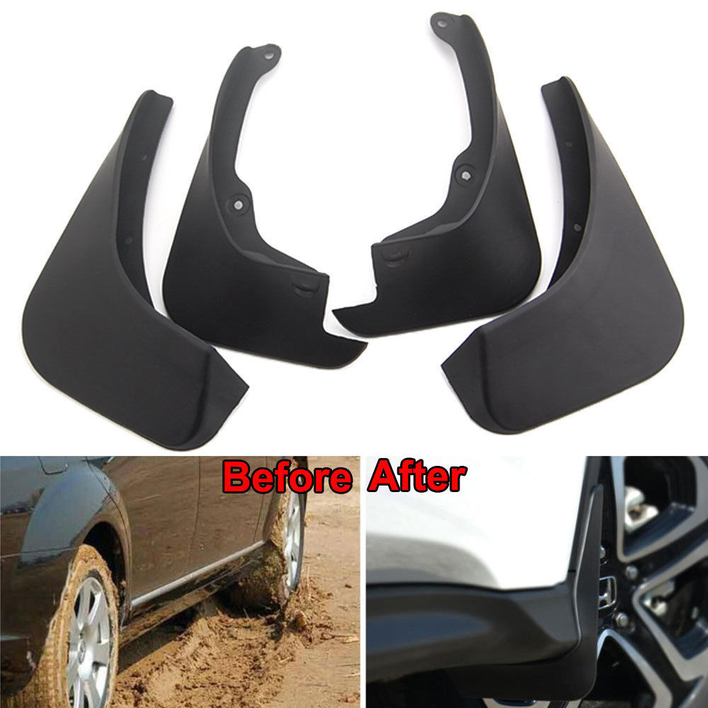 Splash Guards Full Set Front Rear 2007-2012 Toyota Yaris Mud Flaps