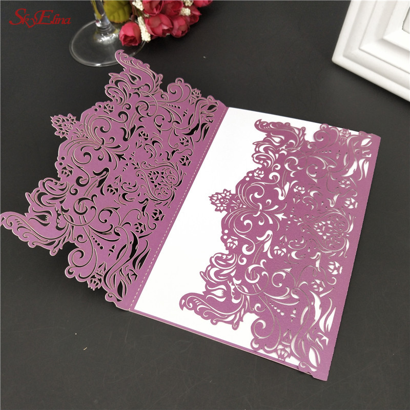 Us 2 84 20 Off 10pcs Lot Wedding Supplies Creative Laser Cut Business Party Birthday Invitations Card Romantic Decoration 8zsh073 In Cards