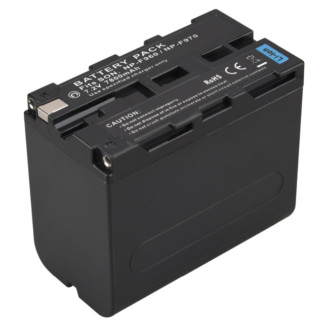 For Sony 7.2V 7800mAh Rechargeable Digital Battery NP F960 F970 for Sony NP-F960 NP-F970 Camera Replacement Li-ion Batteria Pack