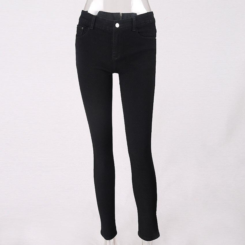 Mode kvinnor jeans byxor flickor hög midja dragkedja jeans kvinnor - Damkläder - Foto 4