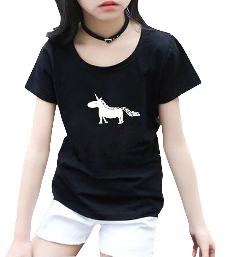 Intellective Kawaii Carino Unicorno Stampato Estate T Shirt Bambini Tops Manica Corta O-collo T-shirt Vestiti Del Fumetto Per I Bambini Streetwear Homme Ad Ogni Costo