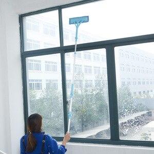 Image 2 - Nettoyage verre vadrouille Multi éponge nettoyant brosse éponge lavage télescopique haute hauteur fenêtres poussière brosse facile nettoyer les fenêtres