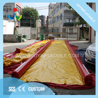 Customized Giant Outdoor Playground Inflatable Slip and Slide for Adults, Longest Extreme City Inflatable Water Slide Surf Slide