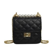 Small Women Bag Messenger Shoulder Sling Purse Lady Chains Handbag Simple Lattice Mini Women Crossbody bags small square package