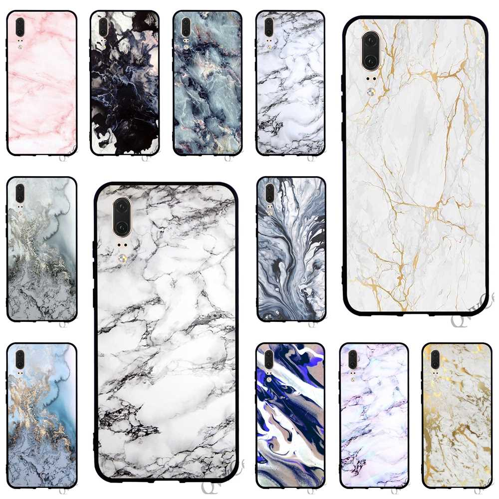 Hybrid Watercolor <font><b>Marble</b></font> Phone Cover for <font><b>Huawei</b></font> <font><b>P10</b></font> <font><b>Case</b></font> P8 P20 Pro P9 Lite Mini P Smart Mate 10 20 Back image